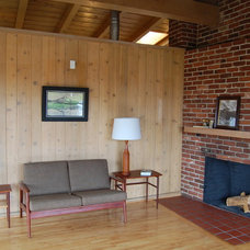 Midcentury Living Room Home Staging - Vacant Homes