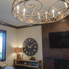 Rustic Living Room by Blalock Homes LLC