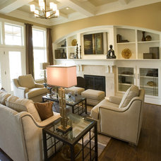 Traditional Living Room by Kimberly Fox Designs