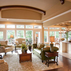 Transitional Living Room by The Rug Gallery