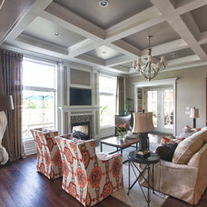 Transitional Living Room by Set The Stage
