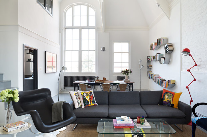 Industrial Living Room by Paul Craig Photography