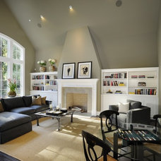 Traditional Living Room by James Witt Homes