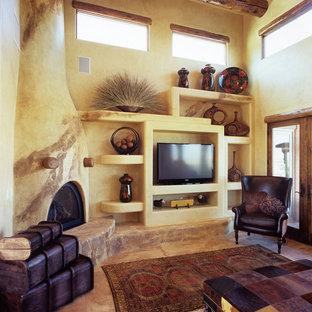 Example of a southwest living room design in Denver
