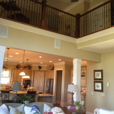 Eclectic Living Room by Total Quality Home Builders, Inc.