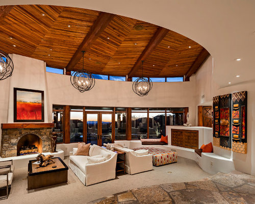 Top 20 Southwestern Living Room Ideas Decoration Pictures Houzz