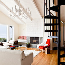 Contemporary Living Room by LINCOLN BARBOUR PHOTO