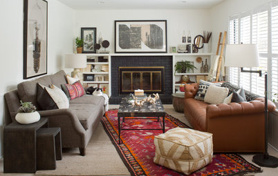 Room of the Day:  Family Room With a Lively, Eclectic Style