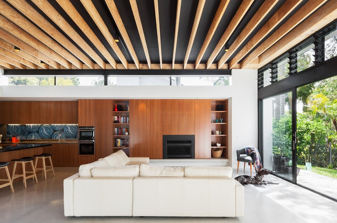 Contemporary Living Room by Steele Associates
