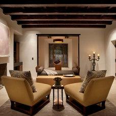 Mediterranean Living Room by Leonard Unander Associates, Inc.
