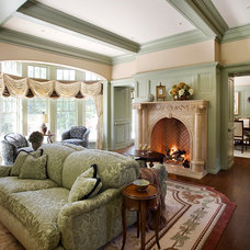 Traditional Living Room by Catalano Architects