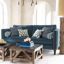 Navy Blue Amp Teal Living Rooms