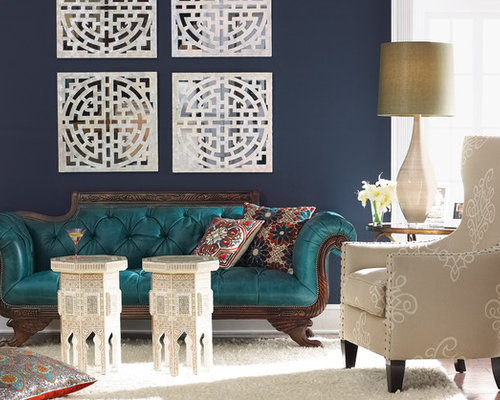 Turquoise And Navy Living Room Design Ideas Renovations
