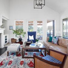 Beach Style Living Room by Kailey J. Flynn Photography