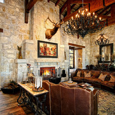 Mediterranean Family Room by Zbranek & Holt Custom Homes