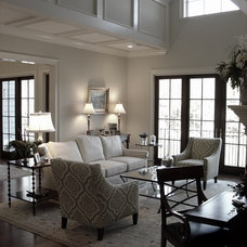 Traditional Living Room by Kemp Hall Studio