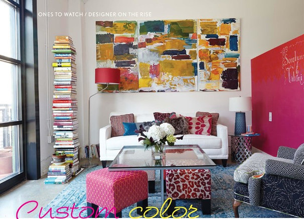 Contemporary Living Room by Laurl Designs