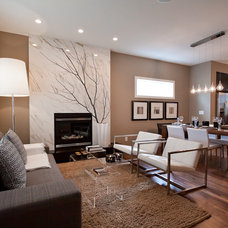Contemporary Living Room by Natalie Fuglestveit Interior Design