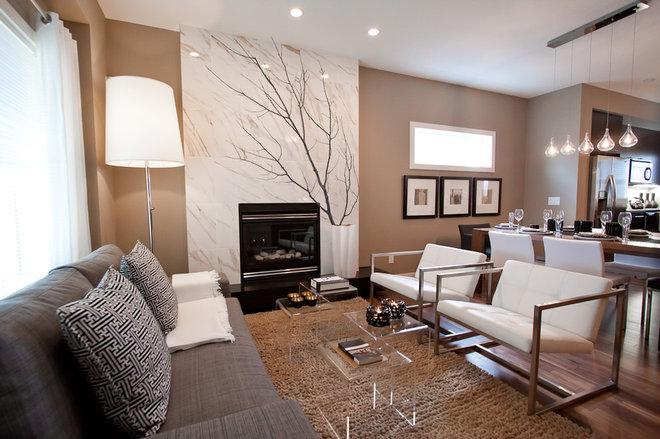 Contemporary Living Room by Natalie Fuglestveit Interior Design