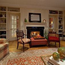 Traditional Living Room by Peter A. Sellar - Architectural Photographer