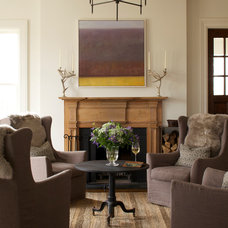 Transitional Living Room by Greenworld Pictures Inc