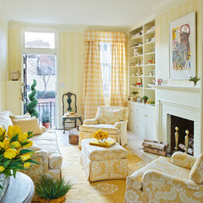 Traditional Living Room by Mary Douglas Drysdale