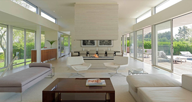 Contemporary Living Room by Stelle Lomont Rouhani Architects