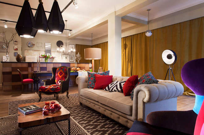 Eclectic Living Room by Architales
