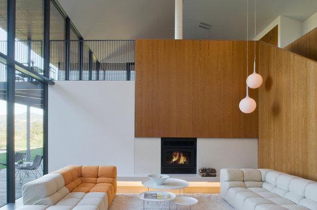 Contemporary Living Room by Cooper Joseph Studio