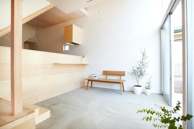 Trendy Dagligstue by 篠崎弘之建築設計事務所