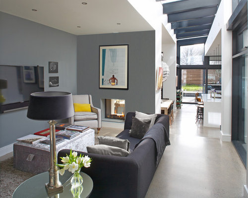 gray and beige living room houzz