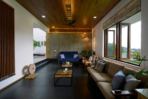 Contemporary Living Room by Architecture + Design Ankit Prabhudessai