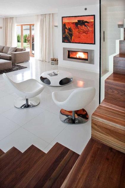 Modern Living Room by nasciturus design