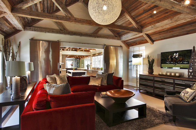 Rustic Living Room by Callaway Architects, LLC