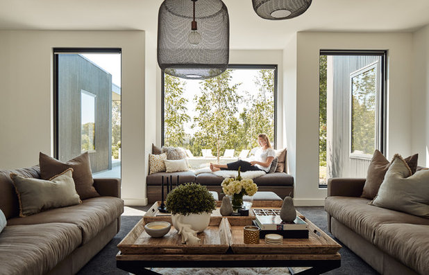 Contemporary Living Room by Atelier Red+Black
