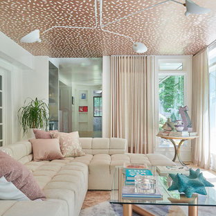 Merveilleux Inspiration For A Contemporary Living Room Remodel In New York