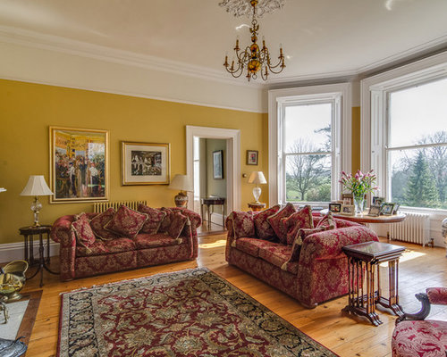 This Is An Example Of A Large Classic Formal Enclosed Living Room In  Belfast With Yellow