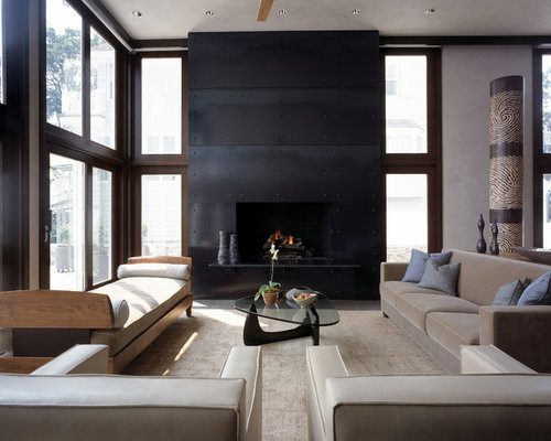 Browse 205 photos of Blackened Steel Fireplace Surround. Find ideas and inspiration for Blackened Steel Fireplace Surround to add to your own home.