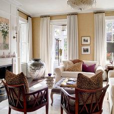 Transitional Living Room by Siemasko + Verbridge