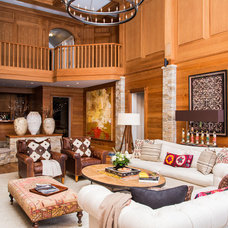 Eclectic Living Room by Cashmere Interior LLC