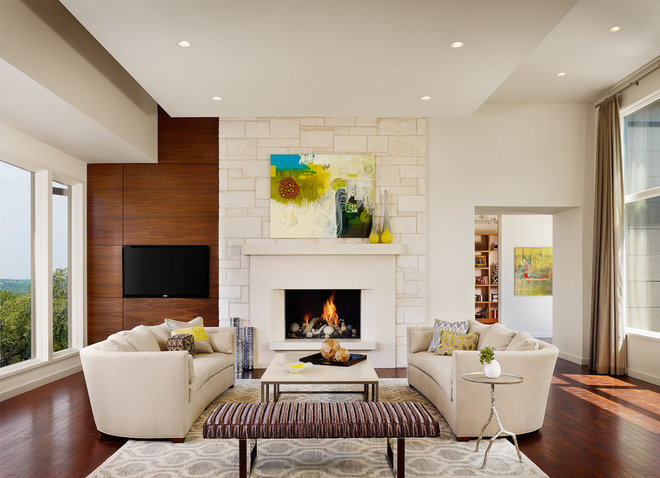 Contemporary Living Room by James D. LaRue Architects