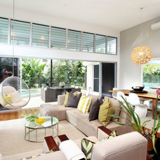 Contemporary Living Room by Highshots Photography