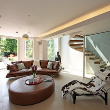 Contemporary Family Room by sporadicSPACE