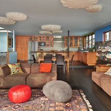 Eclectic Living Room by Graham Baba Architects