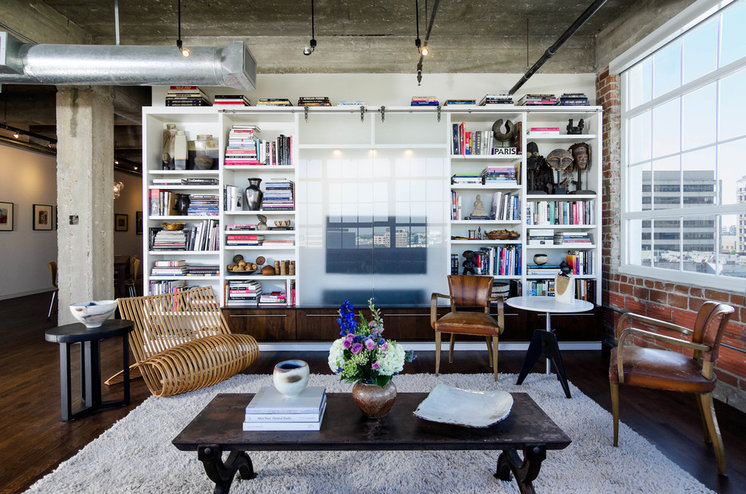 Industrial Living Room by C O N T E N T Architecture