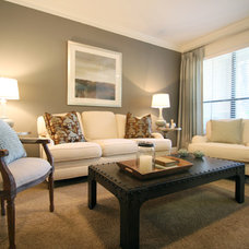 Traditional Living Room by Marie Flanigan Interiors