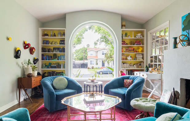 home designed. Eclectic Living Room by Carolyn Reyes Houzz Tour  A Colorful L Home Designed Among Friends