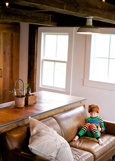Farmhouse Living Room by Michelle Pattee