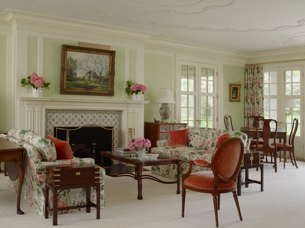 Traditional Living Room Houzz Tour: An Old House Readies for Generations to Come