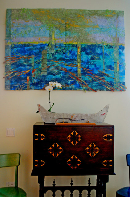 Contemporary Living Room by Wendy K. Leigh